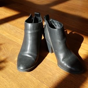 DV Faux Leather Zip Booties